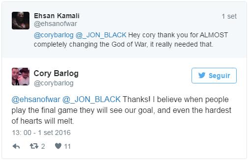 Cory Barlog Twittre