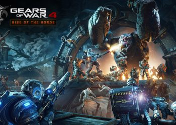 Gears of War 4 no Xbox One X com gráficos impressionantes