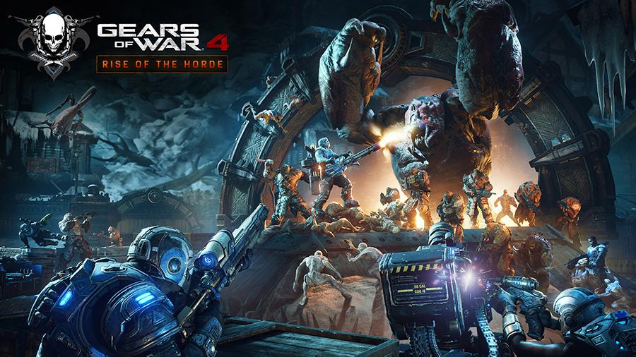 Gears of War 4 no Xbox One X com gráficos impressionantes