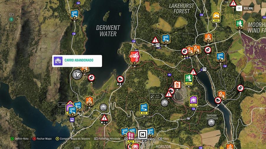 Forza Horizon 4: Localização dos carros abandonados