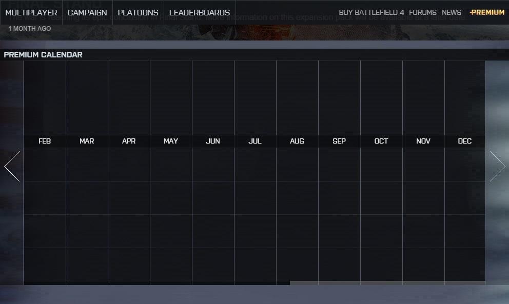 Calendário de DLCs Battlefield 4