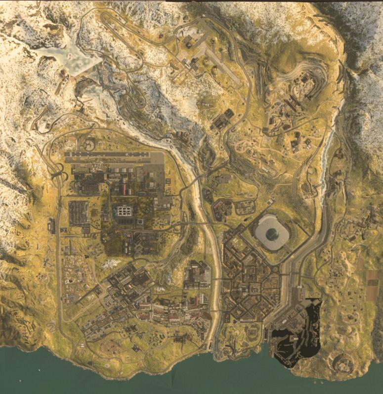 Mapa do modo battle royale de Call of Duty Modern Warfare